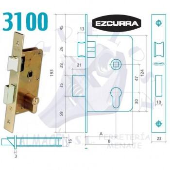 CERRADURA EZCURRA 3100/45 F/LTDO.